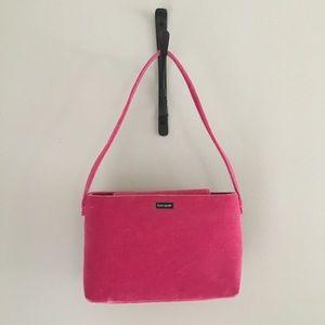 Kate Spade velvet pink purse